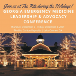 Georgia Emergency Medicine leadership & advocacy flyer graphic